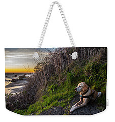 Weekender Tote Bag featuring the photograph Harris Beach Sunset by Matthew Irvin