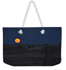Weekender Tote Bag featuring the photograph Harvest Moon 2 by Carl Young