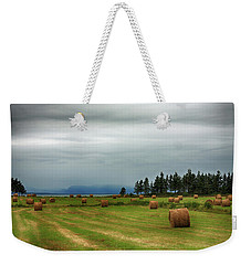Weekender Tote Bag featuring the photograph Harvest Time In Canada by Tatiana Travelways
