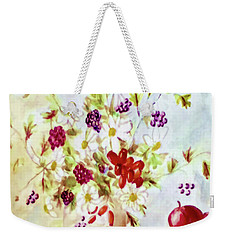 Harvest Time-still Life Painting By V.kelly Weekender Tote Bag
