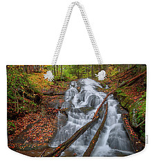 Weekender Tote Bag featuring the photograph Hatch Brook Falls Autumn by Bill Wakeley