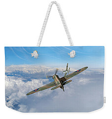 Weekender Tote Bag featuring the photograph Hawker Hurricane Deflection Shot by Gary Eason