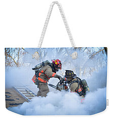 Weekender Tote Bag featuring the photograph Hazardous Duty by Carl Young