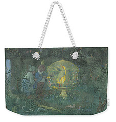 Weekender Tote Bag featuring the drawing he Golden Bird of the Caliph by Ivar Arosenius