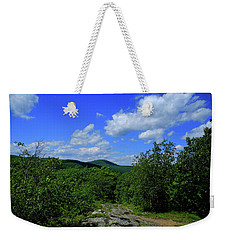 Weekender Tote Bag featuring the photograph Heading Bear Mountain Connecticut On The Appalachian Trail by Raymond Salani III
