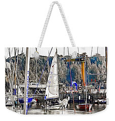 Weekender Tote Bag featuring the photograph Heading For The Lake by Dorothy Berry-Lound