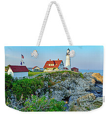 Headlight Sunset Weekender Tote Bag