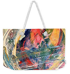 Weekender Tote Bag featuring the painting Heart Full Of Love by Robin Maria Pedrero