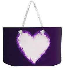 Heart Of Purple Weekender Tote Bag