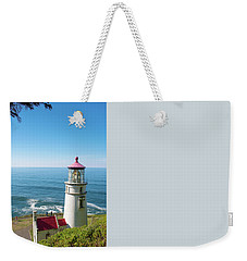 Weekender Tote Bag featuring the photograph Heceta Head Lighthouse Oregon by Rospotte Photography