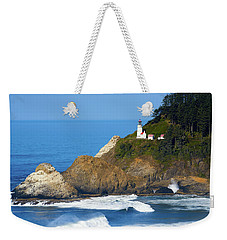 Weekender Tote Bag featuring the photograph Heceta Head Lighthouse1107 by Rospotte Photography