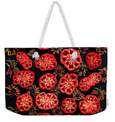 Heirloom Tomato Grid Weekender Tote Bag