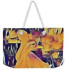 Weekender Tote Bag featuring the photograph Hello, Goodbye, I Must Be Going by Leigh Kemp