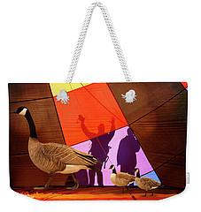 Here A Minute Ago Weekender Tote Bag