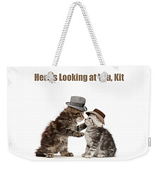 Weekender Tote Bag featuring the photograph Here's Looking At You, Kit by Warren Photographic