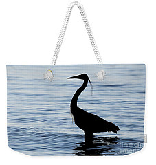 Weekender Tote Bag featuring the photograph Heron In Silhouette by Sue Harper