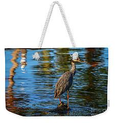 Heron On Rock Weekender Tote Bag
