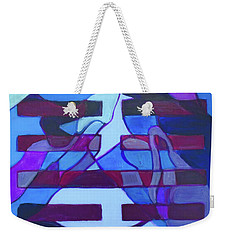 Weekender Tote Bag featuring the painting Hexagram 52-gen-immovable by Denise Weaver Ross