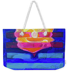 Weekender Tote Bag featuring the painting Hexagram-64-wei-ji-ripening by Denise Weaver Ross