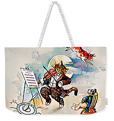 Weekender Tote Bag featuring the digital art Hey Diddle Diddle by Pennie McCracken