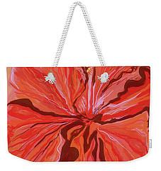 Hibiscus Color Lines Weekender Tote Bag