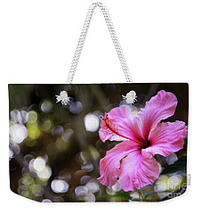 Weekender Tote Bag featuring the photograph Hibiscus Flower Bloom by Pablo Avanzini