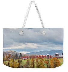 Weekender Tote Bag featuring the photograph Hiddenhurst Farm Autumn by Bill Wakeley
