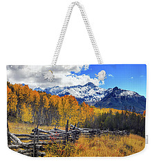 Weekender Tote Bag featuring the photograph High County Ablaze by Rick Furmanek