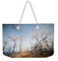 Hilltop Hoarfrost Weekender Tote Bag