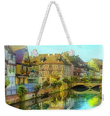 Weekender Tote Bag featuring the painting Historic Village On The Rhine by Chris Armytage