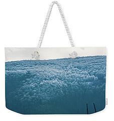 Hoarfrost Blue Mountain Weekender Tote Bag