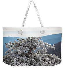 Hoarfrost In The Blue Ridge Mountains Weekender Tote Bag