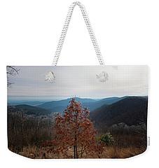 Hoarfrost On Fall Leaves Weekender Tote Bag