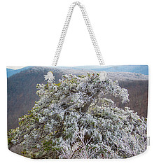 Hoarfrost On Trees Weekender Tote Bag