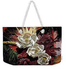 Weekender Tote Bag featuring the photograph Holiday Shells by Don Moore