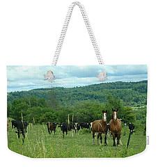 Horse And Cow Weekender Tote Bag