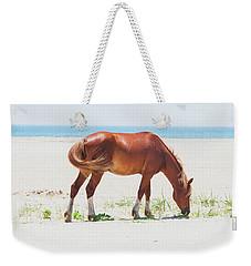 Horse On Beach Weekender Tote Bag