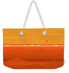 Hot Orange Ocean Weekender Tote Bag