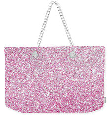 Weekender Tote Bag featuring the photograph Hot Pink Glitter by Top Wallpapers