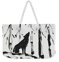 Weekender Tote Bag featuring the painting Howl #2 by Maria Langgle