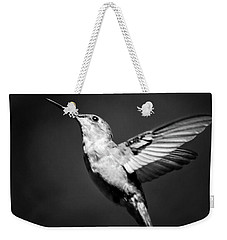 Hummingbird Flight Bw Square Weekender Tote Bag