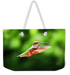 Hummingbird Flying Weekender Tote Bag