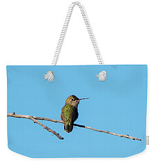Weekender Tote Bag featuring the photograph Hummingbird by Lukas Miller