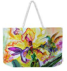 Hummingbird Song Watercolor Weekender Tote Bag