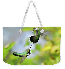 Hummingbirds Ensuing Battle Weekender Tote Bag