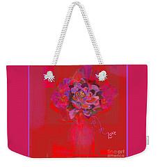 Hummingbirds Red Fantasy Weekender Tote Bag