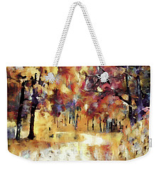 Weekender Tote Bag featuring the mixed media I Dream Of Fall by Susan Maxwell Schmidt