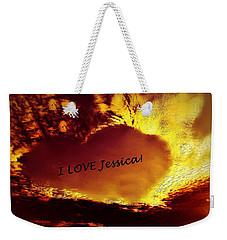 I Love Jessica Heart Weekender Tote Bag