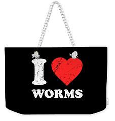 I Love Worms Weekender Tote Bag