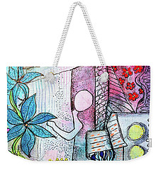 I Opened The Curtain And There Was Spring  Weekender Tote Bag
